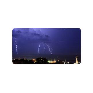 Lightnings in Genova Labels