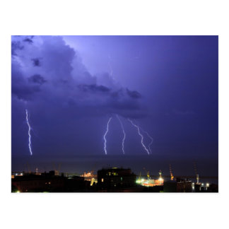 Lightnings in Genova Postcard