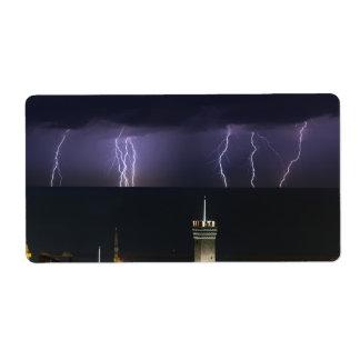 lightnings over Genova Shipping Label