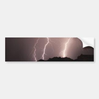 lightnings triple strike. car bumper sticker