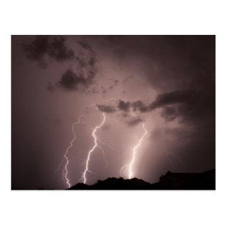 lightnings triple strike. postcard