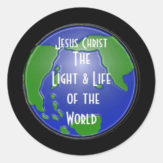 lightoftheworld, Jesucristo, TheLight y vida… Pegatina Redonda