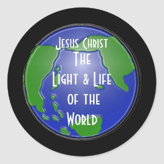 lightoftheworld, Jesus Christ, TheLight & Life ... Classic Round Sticker