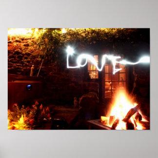 Lightpainted Love Poster