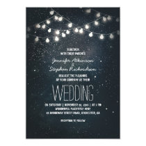 Lights and Night Stars Vintage Elegant Wedding Card