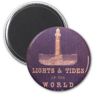 Lights and Tides of the World 2 Inch Round Magnet