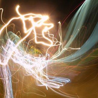 Lights at Night in the Dark print