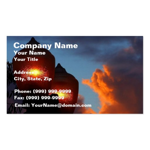 Lights at Sunset Business Card
