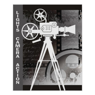 Lights, Camera, Action 16x20 Poster