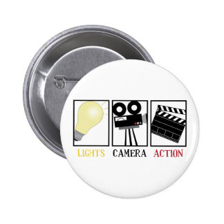 Lights Camera Action 2 Inch Round Button