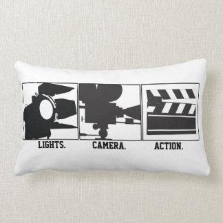Lights Camera Action Almohada de Movie Maker