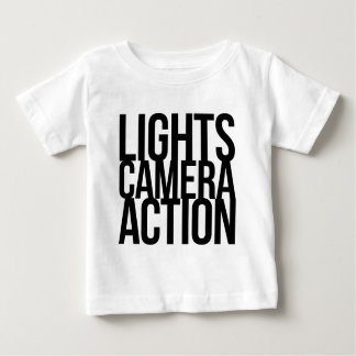Lights Camera Action Baby T-Shirt