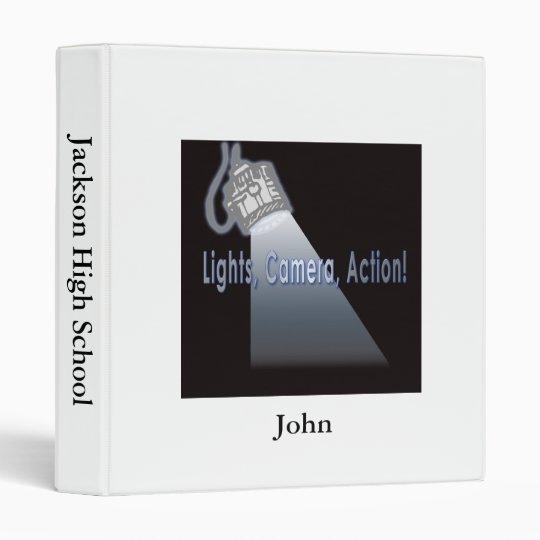 """""""Lights, Camera, Action!"""" Binder"""