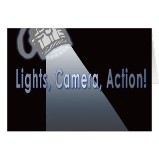 """Lights, Camera, Action!"" Card"