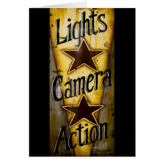 Lights, Camera, Action Card
