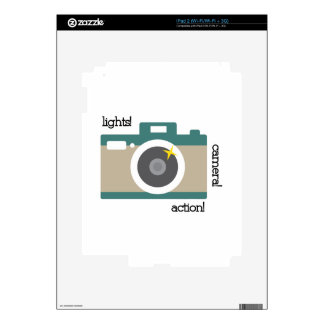 Lights Camera Action Decals For iPad 2