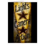 Lights, Camera, Action Greeting Cards