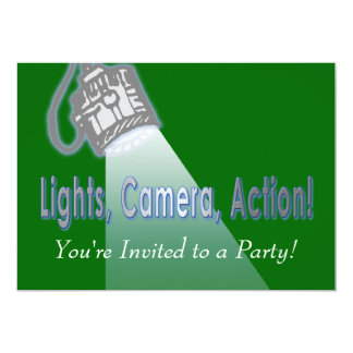 """Lights, Camera, Action!"" 5x7 Paper Invitation Card"