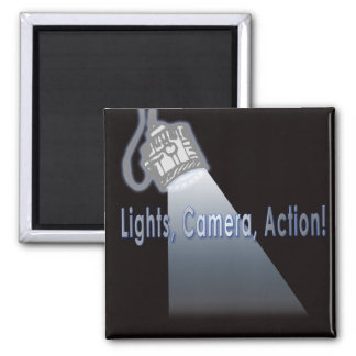 """""""Lights, Camera, Action!"""" Magnet"""