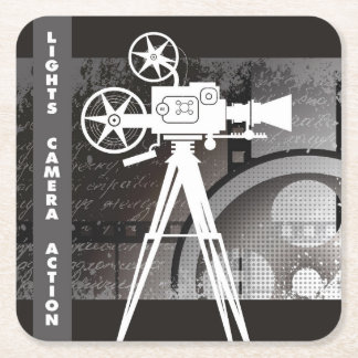 Lights, Camera, Action Movie Disposable Coaster