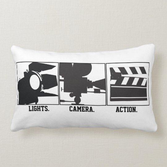 lights camera action movie maker pillow zazzle com