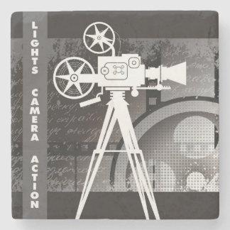 Lights, Camera, Action Movie Theme Marble Coaster