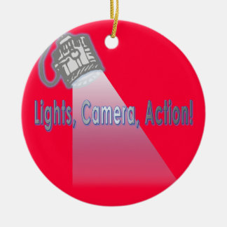 """Lights, Camera, Action!"" Ornament"