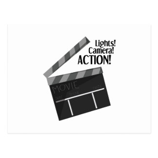 Lights Camera Action Postcard