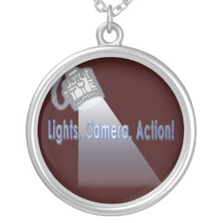 """Lights, Camera, Action!"" Round Pendant Necklace"