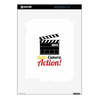 Lights.Camera.Action! Skin For The iPad 2