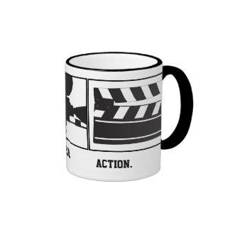 Lights Camera Action Taza de Movie Maker