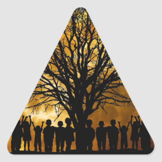 Lights Children Images Triangle Sticker