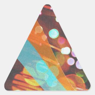 Lights Custom Design Triangle Sticker