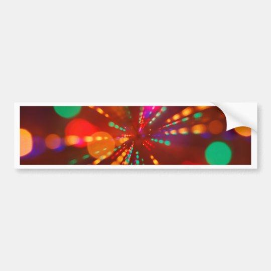 Lights glowing (blur motion background) bumper sticker