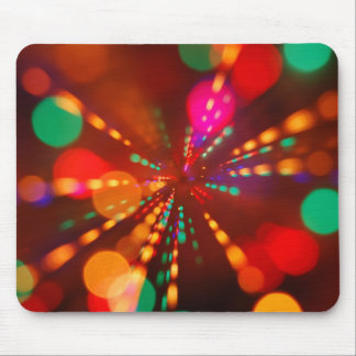 Lights glowing (blur motion background) mouse pad