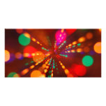Lights glowing (blur motion background) custom photo card