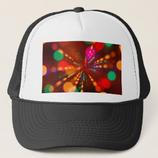 Lights glowing (blur motion background) trucker hat