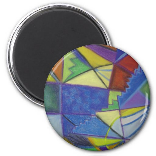 Lights in the City 2 Inch Round Magnet