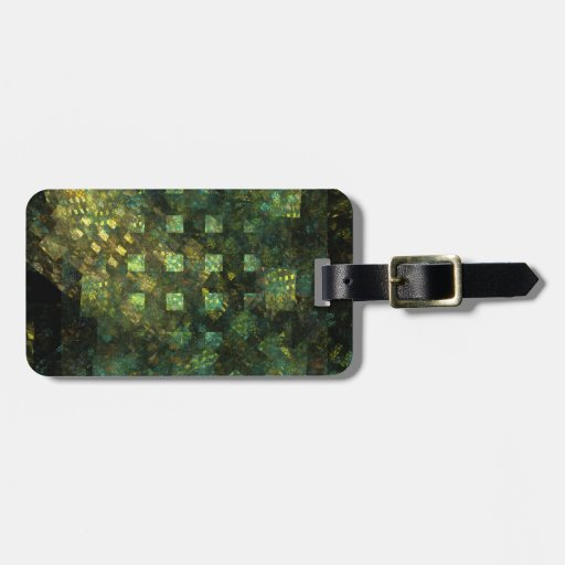Lights in the City Abstract Art Address Luggage Tag