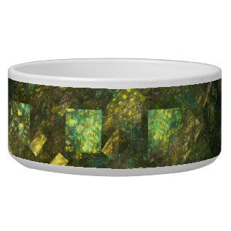 Lights in the City Abstract Art Dog Bowl