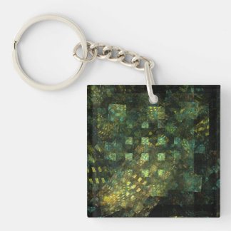 Lights in the City Abstract Art Double-Sided Square Acrylic Keychain