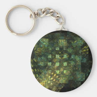 Lights in the City Abstract Art Keychain