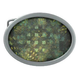 Lights in the City Abstract Art Oval Belt Buckle