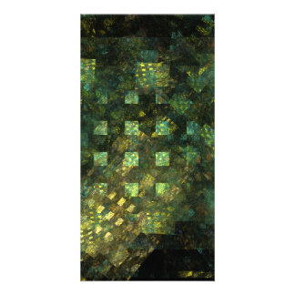 Lights in the City Abstract Art Photo Card
