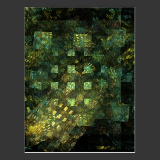 Lights in the City Abstract Art Postcard