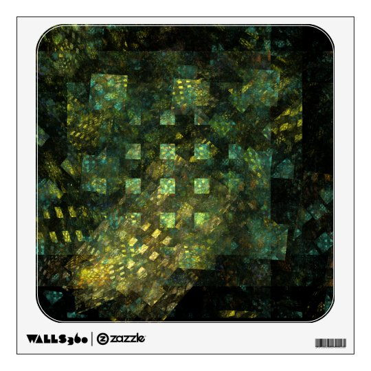 Lights in the City Abstract Art Square Wall Sticker