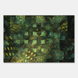 Lights in the City Abstract Art Yard Sign