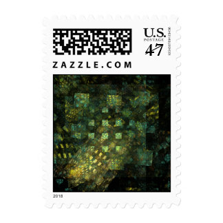 Lights in the City Abstract Postage Stamp
