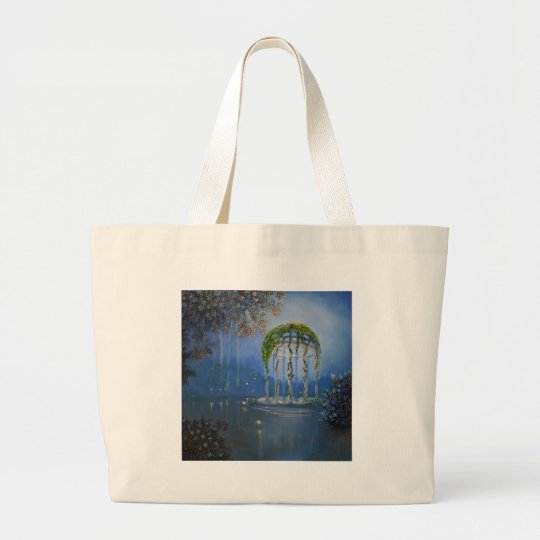 Lights in the Garden Large Tote Bag