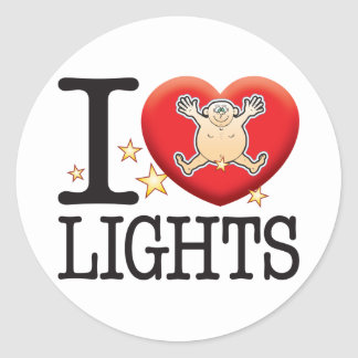Lights Love Man Classic Round Sticker